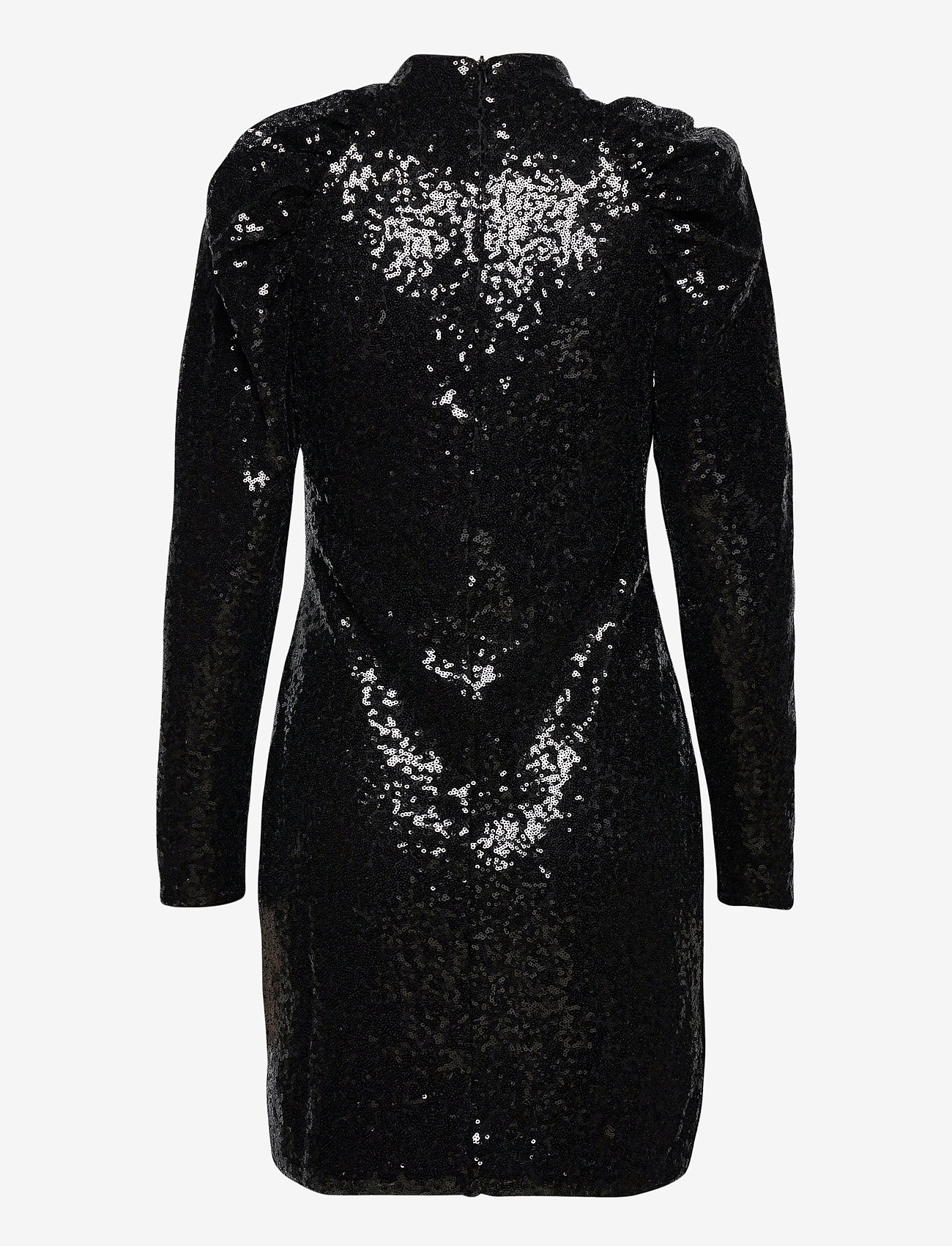 Vero Moda - VMJAGGER LS SHORT DRESS JRS BOO - paljettklänningar - black - 1