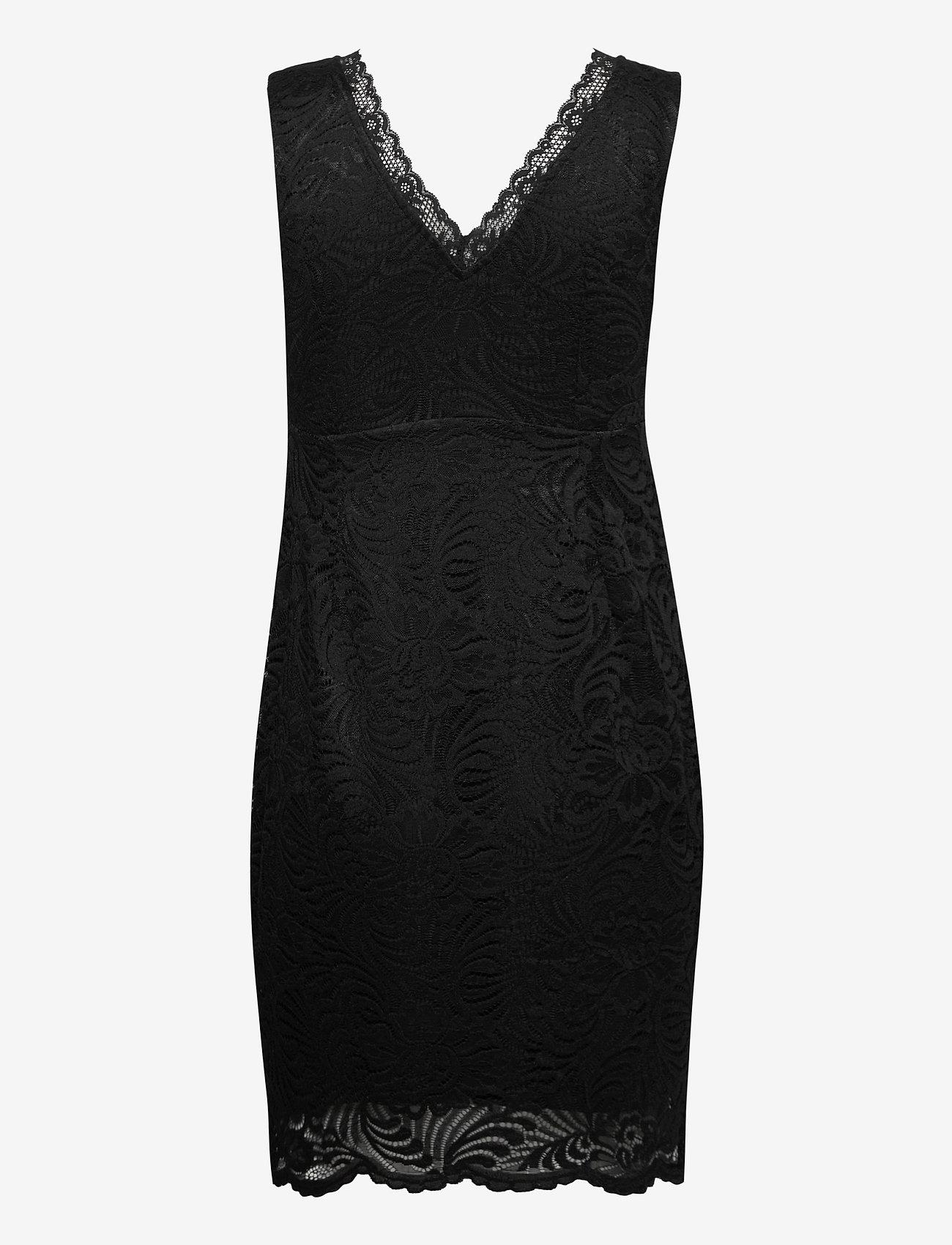 Vero Moda - VMJANNE SL SHORT LACE DRESS JRS BOO - fodralklänningar - black - 1