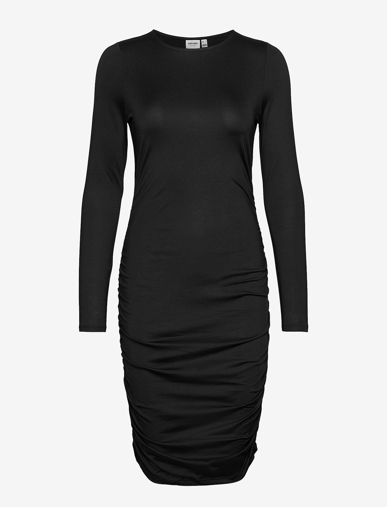 Vero Moda - VMNEXT LS  O-NECK SHORT DRESS VMA - vardagsklänningar - black - 0