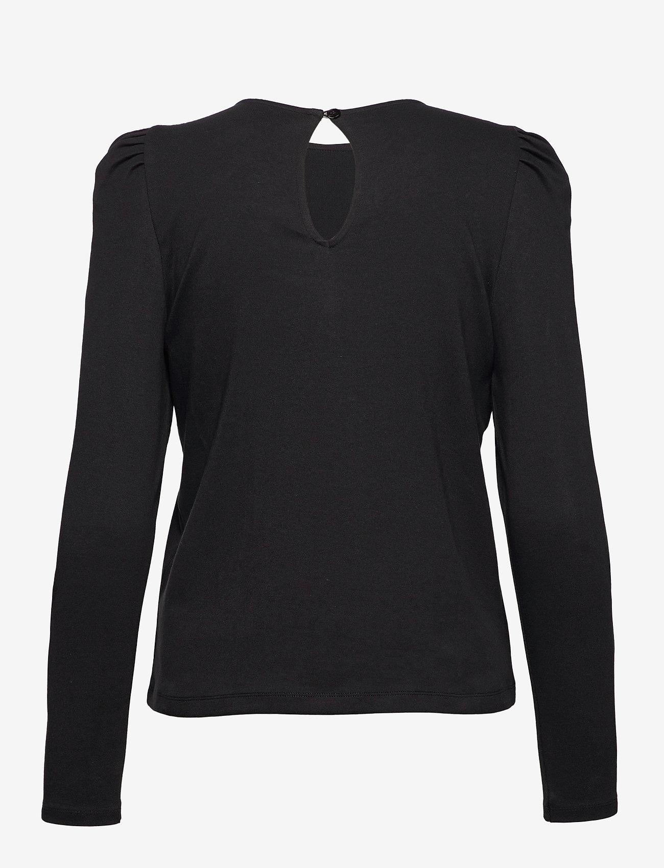 Vero Moda - VMNOREEN LS O-NECK BLOUSE VMA - långärmade blusar - black - 1