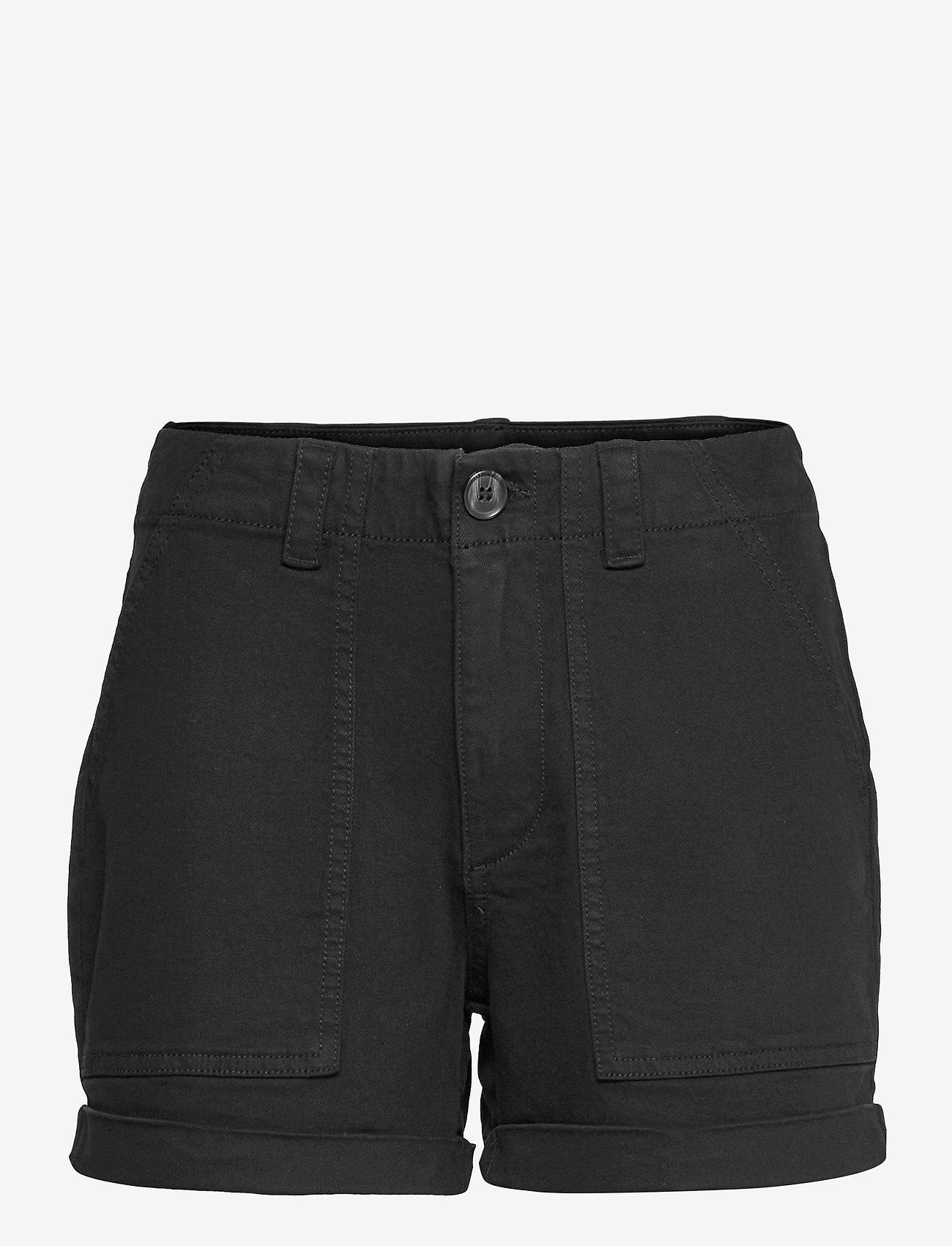Vero Moda - VMBARB MR UTILITY SHORTS GA COLOR - jeansshorts - black - 0