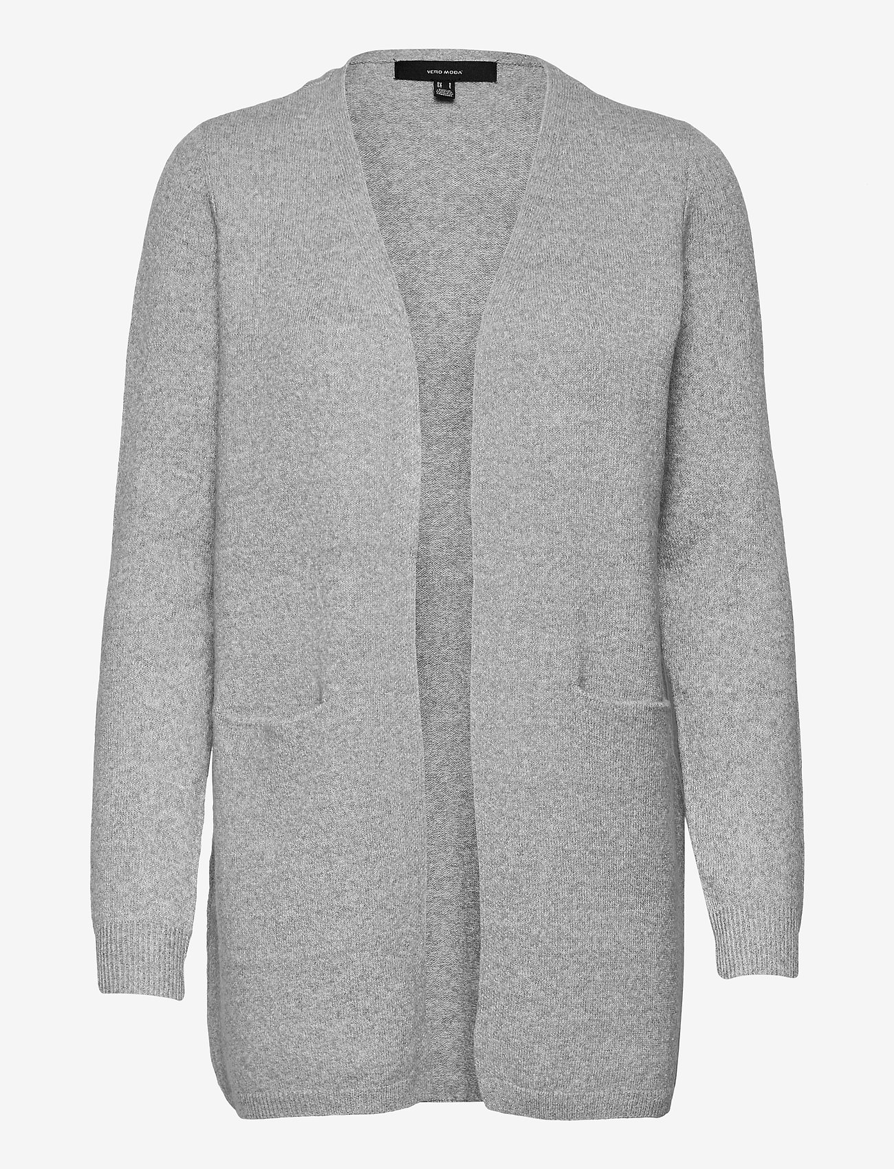 Vero Moda - VMDOFFY LS SHORT OPEN CARDIGAN GA - koftor - light grey melange - 0