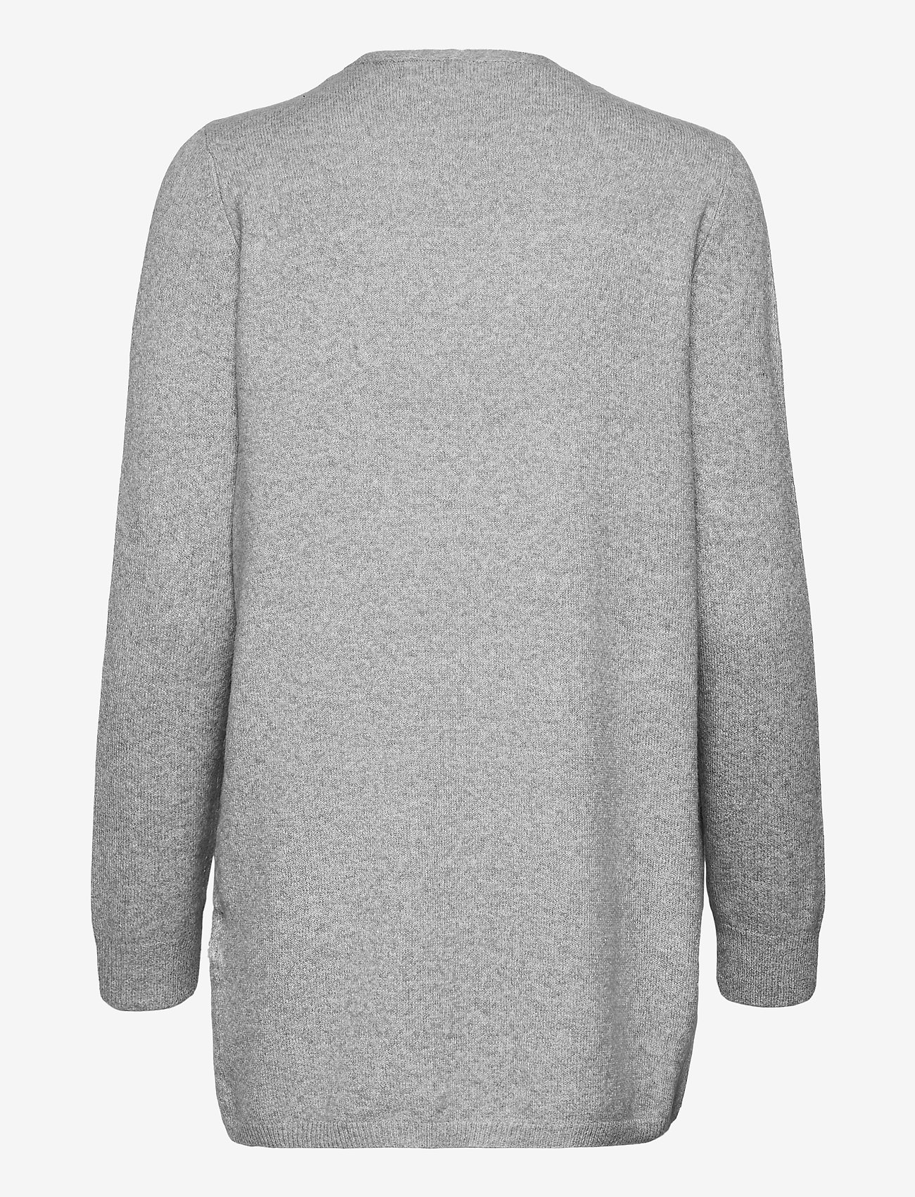 Vero Moda - VMDOFFY LS SHORT OPEN CARDIGAN GA - koftor - light grey melange - 1