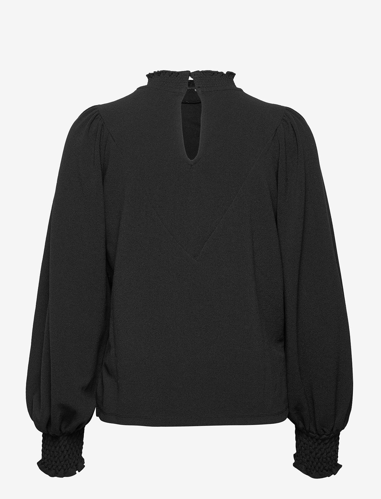Vero Moda - VMNOELIA LS HIGH NECK TOP JRS GA - långärmade blusar - black - 1