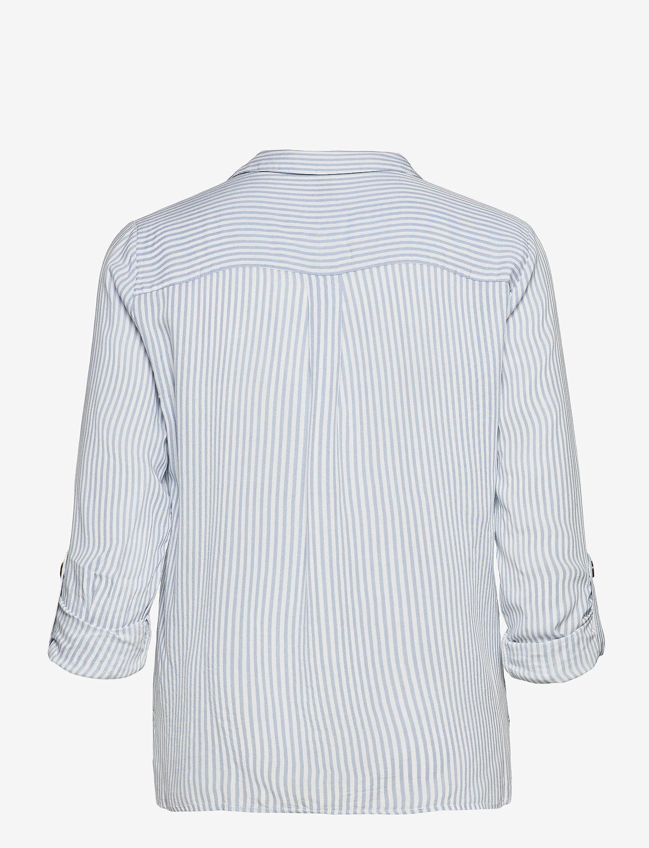 Vero Moda - VMBUMPY L/S SHIRT COLOR - långärmade skjortor - snow white - 1