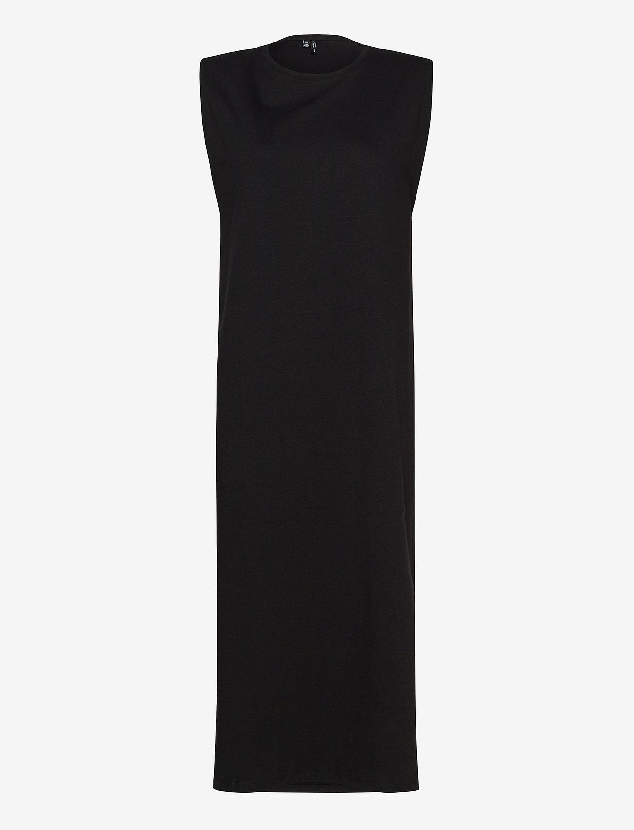 Vero Moda - VMEDEN S/L CALF DRESS SB8 - midiklänningar - black - 0