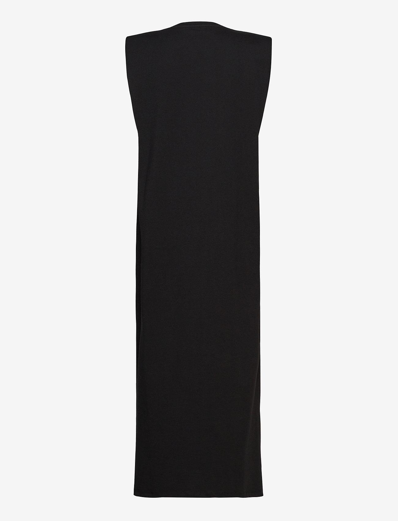 Vero Moda - VMEDEN S/L CALF DRESS SB8 - midiklänningar - black - 1