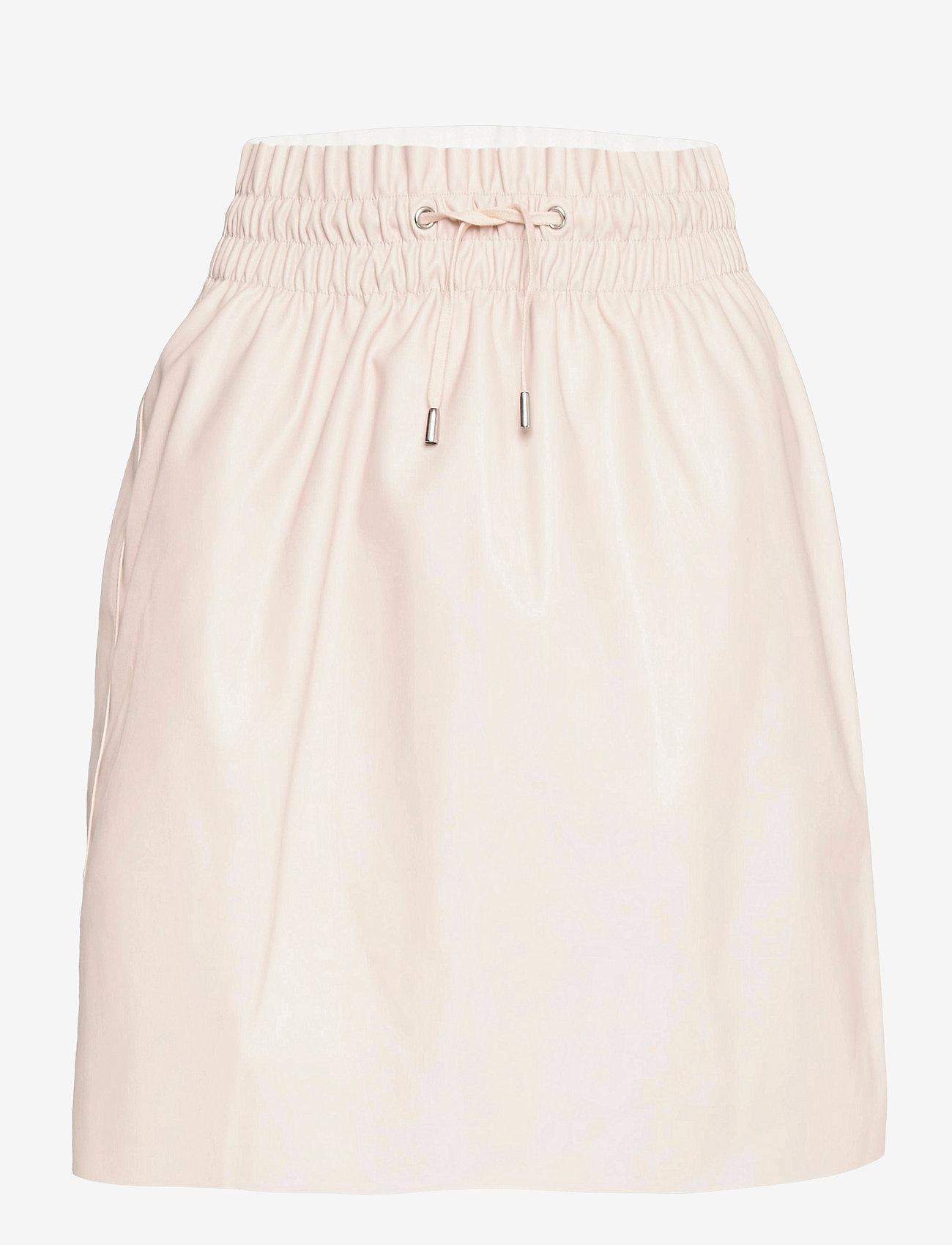 Vero Moda - VMAVA HW SHORT COATED SKIRT - korta kjolar - oatmeal - 0
