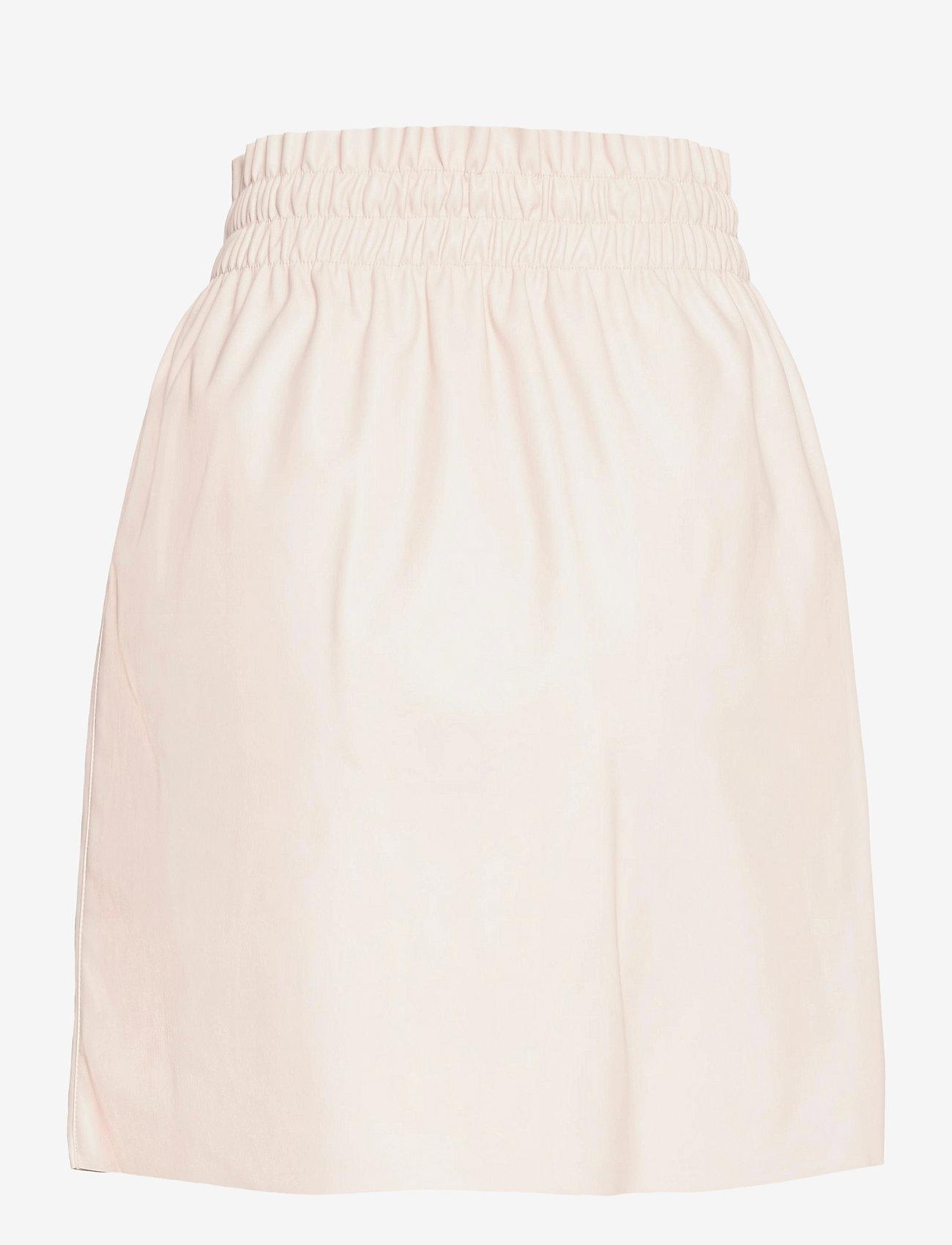 Vero Moda - VMAVA HW SHORT COATED SKIRT - korta kjolar - oatmeal - 1