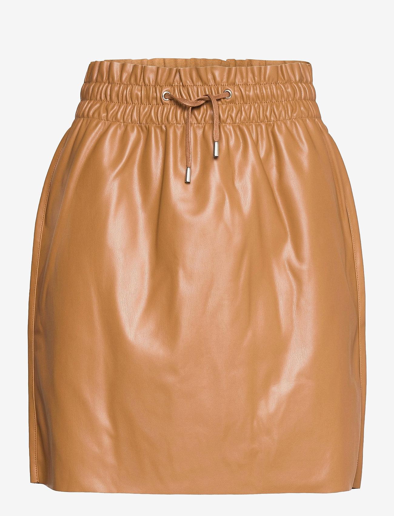 Vero Moda - VMAVA HW SHORT COATED SKIRT - korta kjolar - tobacco brown - 0