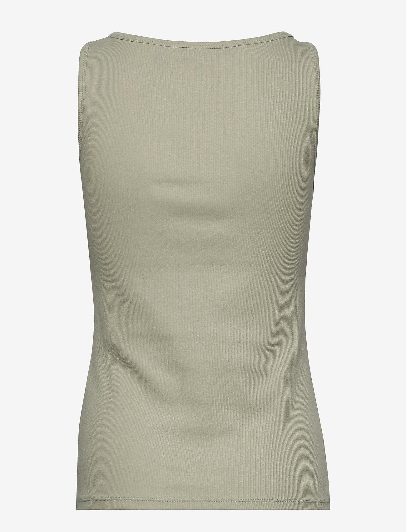 Vero Moda - VMJESSICA SL RIB TANK TOP GA COLOR - t-shirts - desert sage - 1