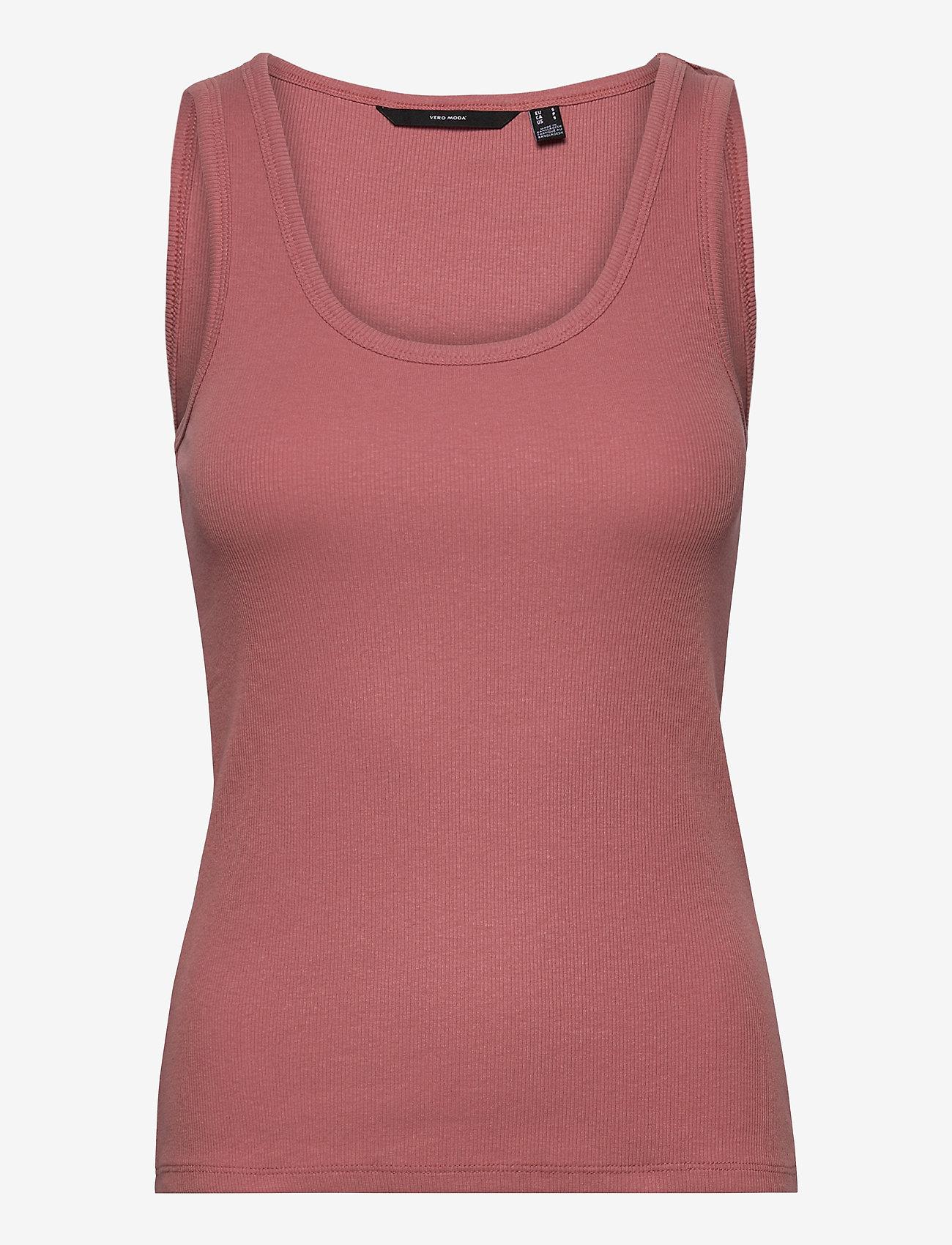 Vero Moda - VMJESSICA SL RIB TANK TOP GA COLOR - t-shirts - old rose - 0