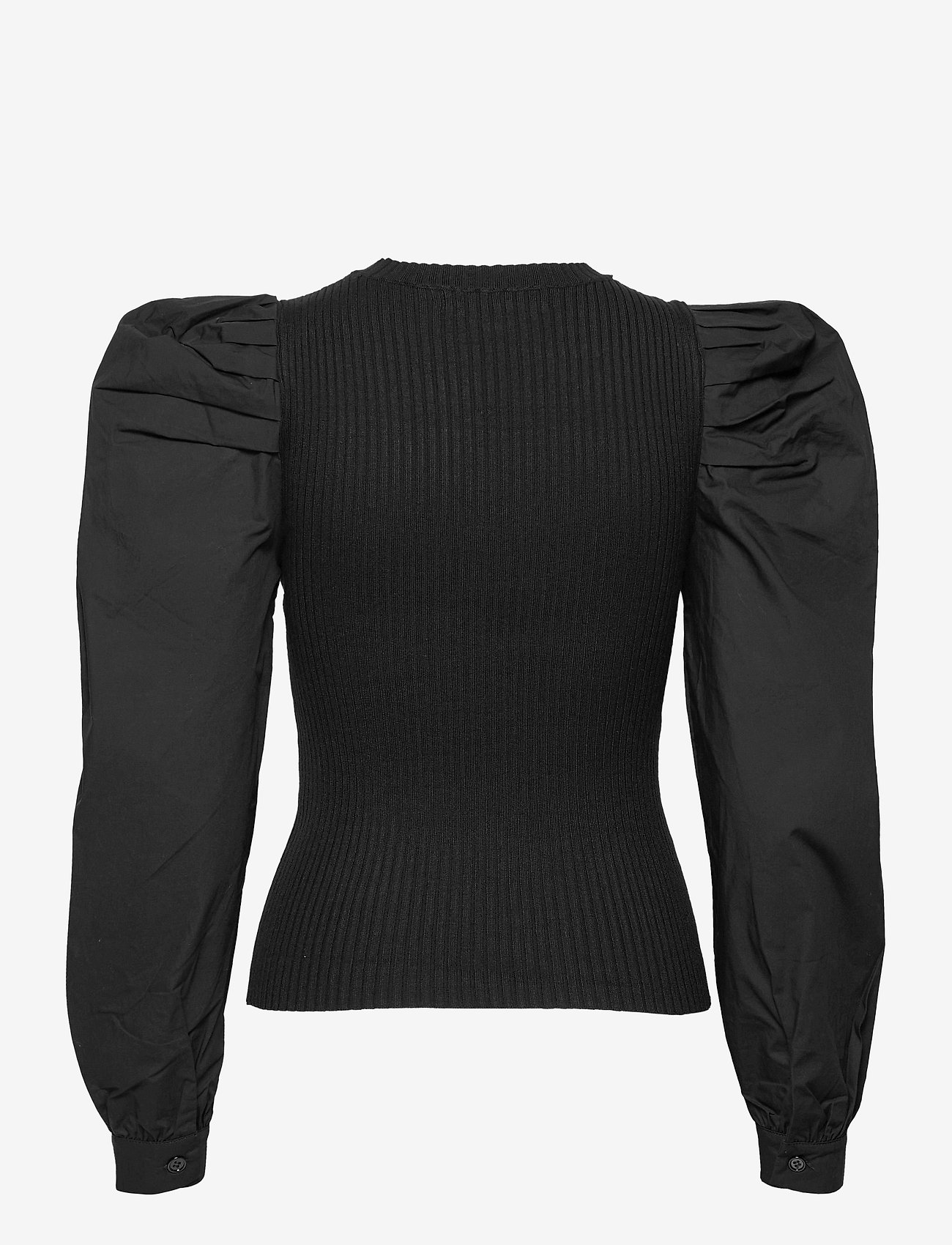 Vero Moda - VMMORGAN LS O-NECK BLOUSE GA - långärmade blusar - black - 1