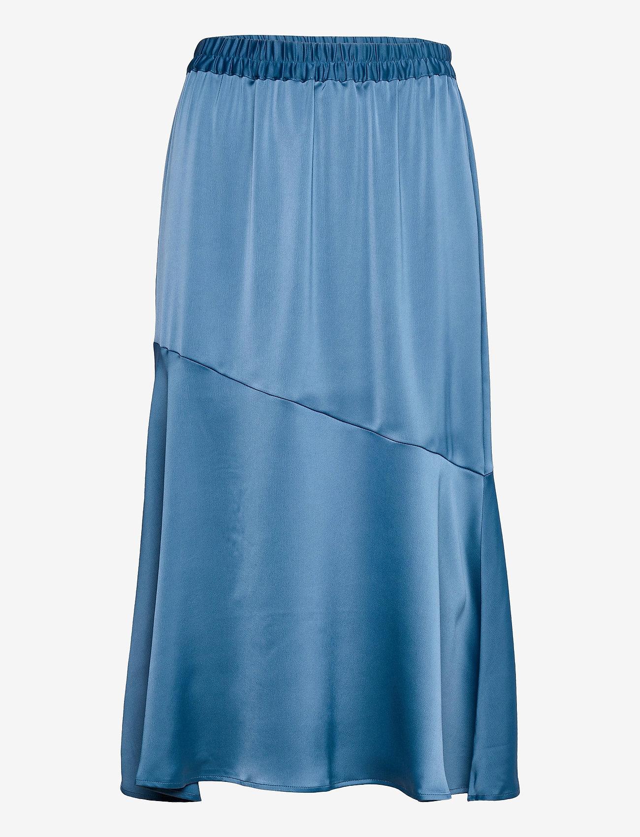Vero Moda - VMONNA HW CALF SKIRT VMA - midi kjolar - vintage indigo - 0