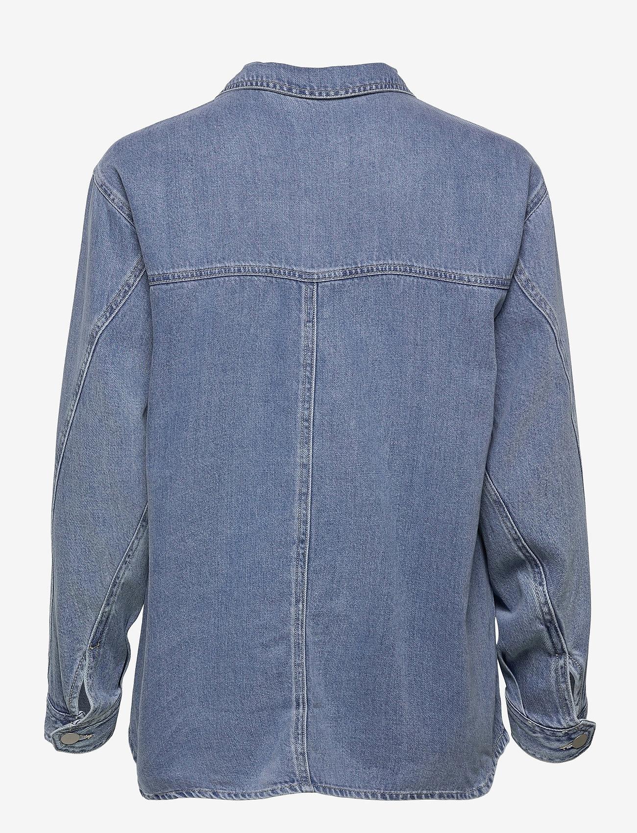 Vero Moda - VMEMERY LS OVERSIZE DENIM SHIRT VMA - kläder - light blue denim - 1