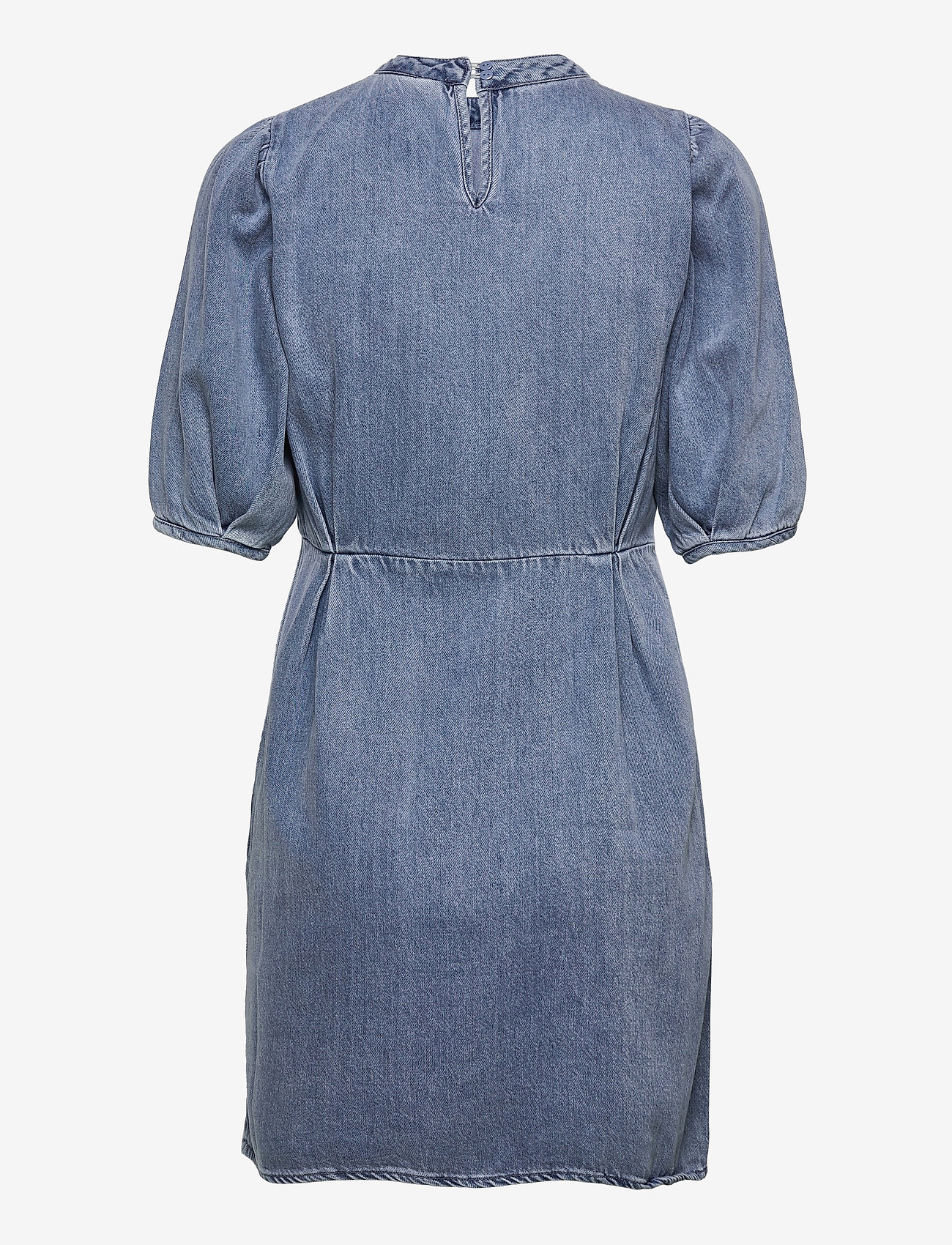 Vero Moda - VMBERTA 2/4 SHORT DENIM DRESS VMA - sommarklänningar - light blue denim - 1