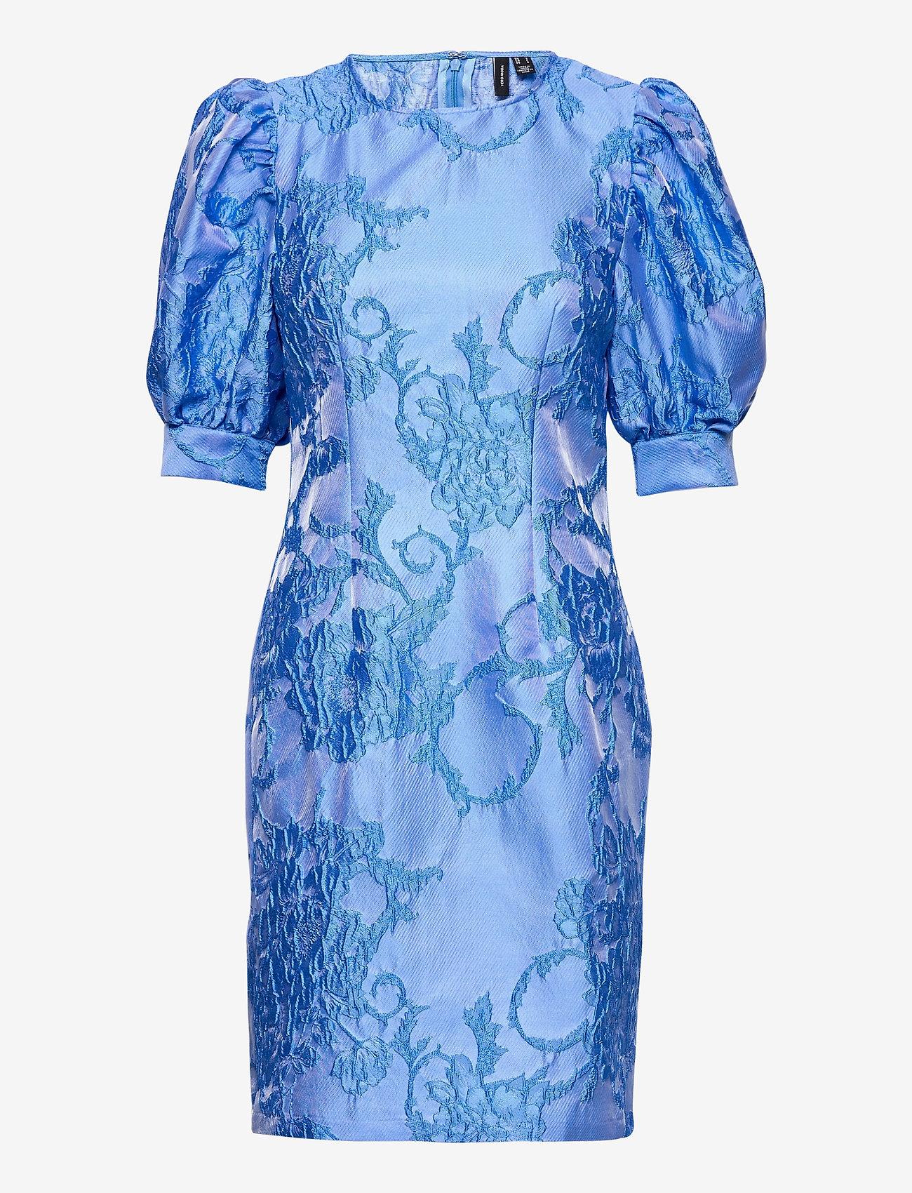 Vero Moda - VMSTELLA 2/4 SHORT DRESS SB2 - fodralklänningar - hydrangea - 0