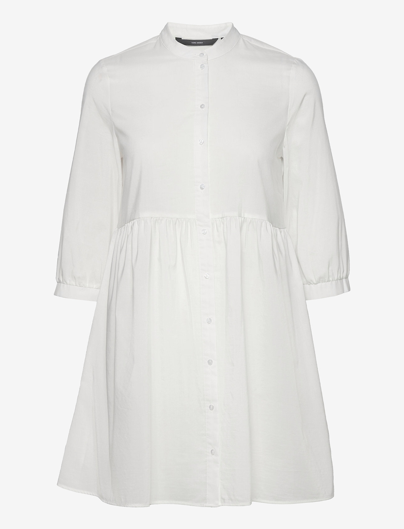 Vero Moda - VMSISI 3/4 DRESS - sommarklänningar - snow white - 0