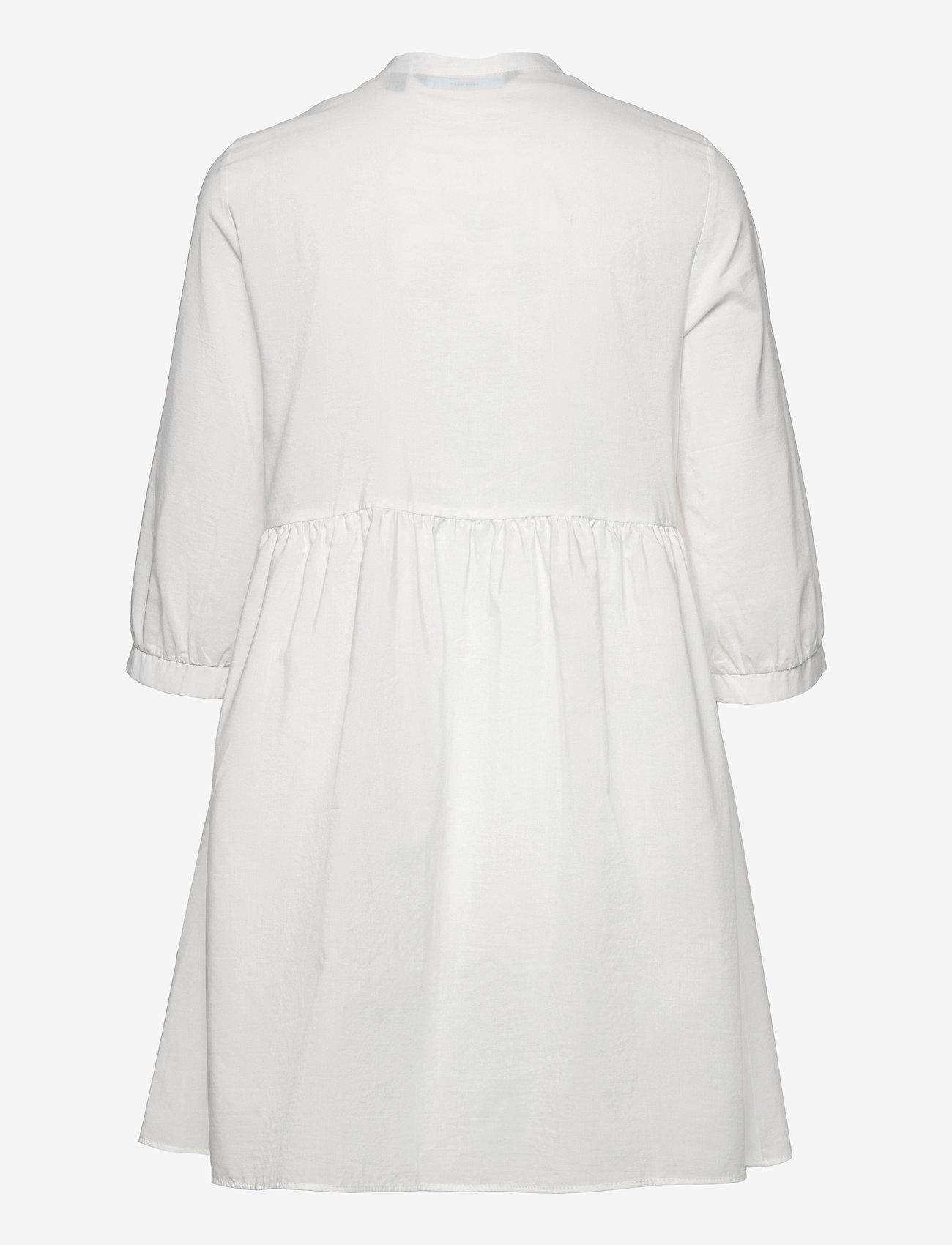 Vero Moda - VMSISI 3/4 DRESS - sommarklänningar - snow white - 1