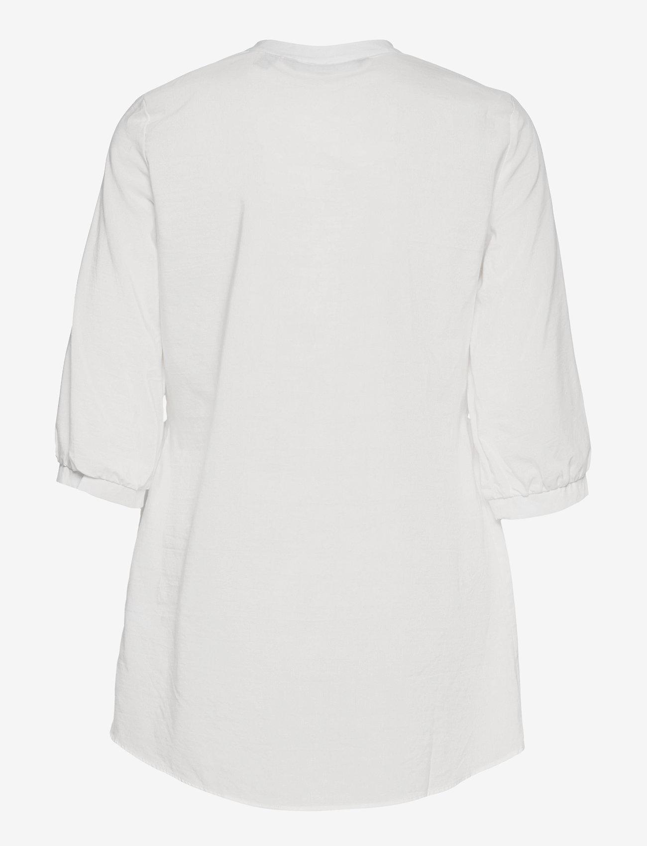 Vero Moda - VMCLARA 3/4 LONG SHIRT - långärmade skjortor - snow white - 1