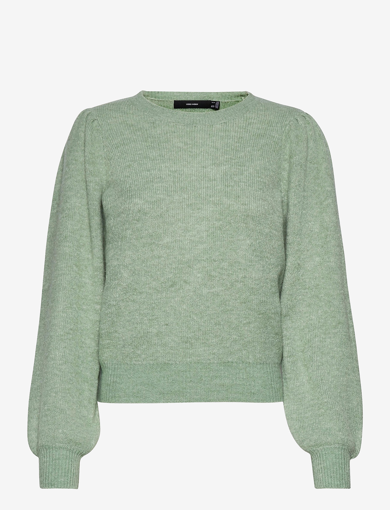 Vero Moda - VMLEFILE PUFF LS BLOUSE REP - tröjor - jadeite - 0