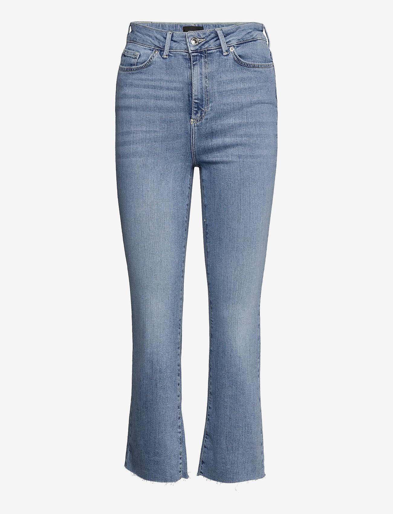 Vero Moda - VMSTELLA HR KICK FLARE JEANS BA3121 - utsvängda jeans - light blue denim - 0