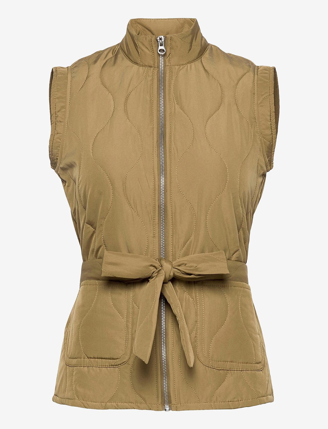 Vero Moda - VMEMMA  S/L SHORT  QUILTED VEST FM - puffer vests - lizard - 0