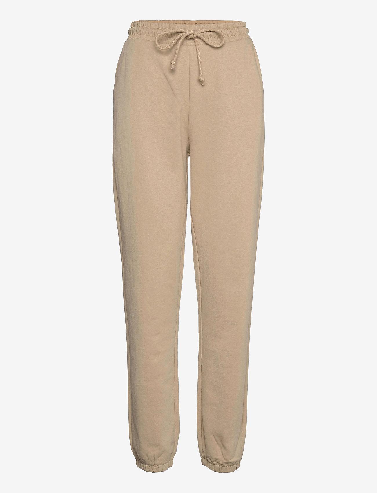 Vero Moda - VMOCTAVIA HW SWEAT PANT GA - kläder - white pepper - 0