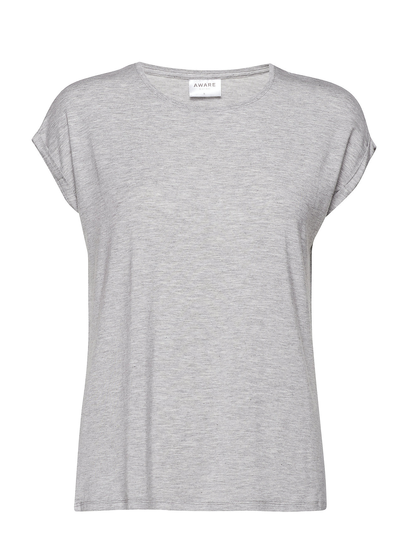 Vero Moda VMAVA PLAIN SS TOP GA NOOS - LIGHT GREY MELANGE