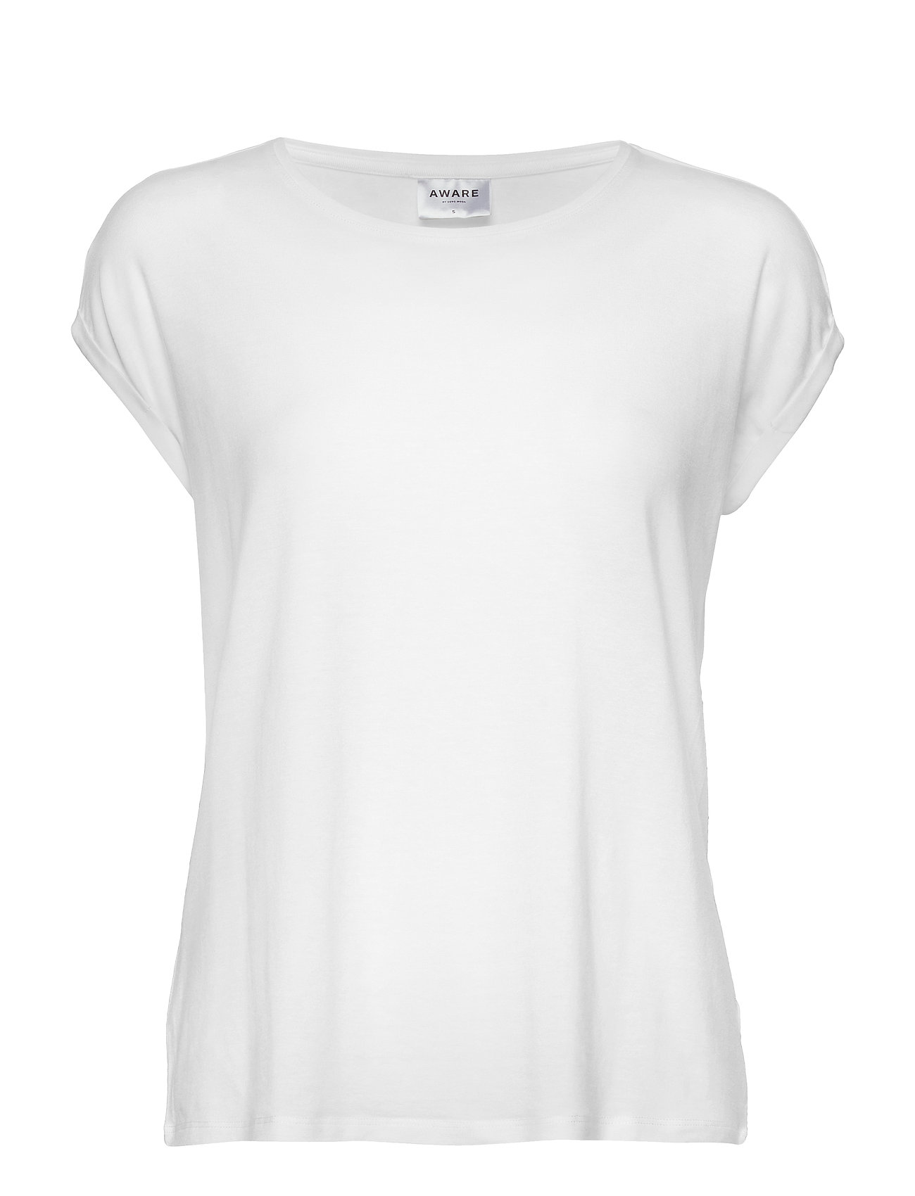 Vero Moda VMAVA PLAIN SS TOP GA NOOS - SNOW WHITE