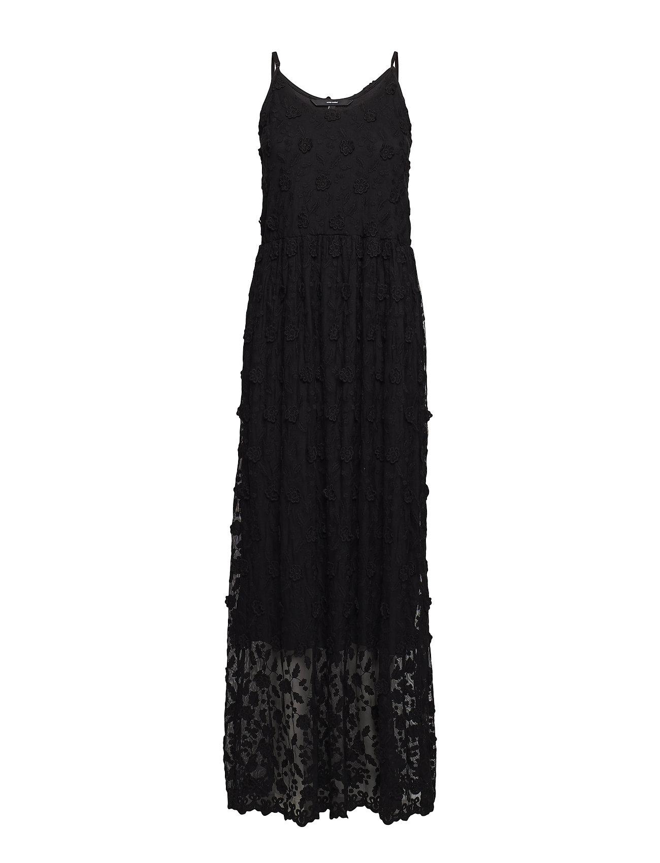 Vero Moda VMRAPUNZEL S/L MAXI DRESS EID18 - BLACK