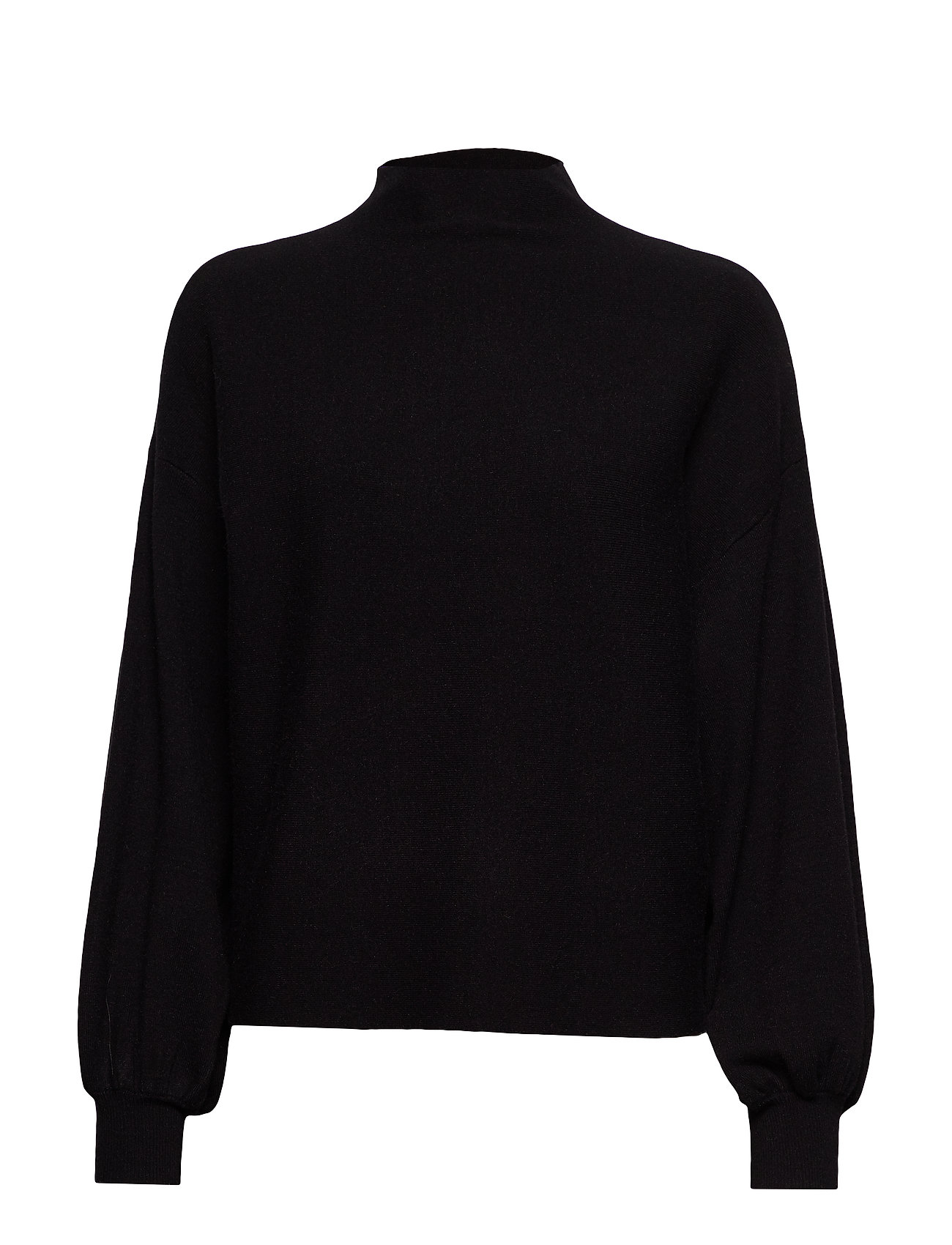 Vero Moda VMNANCY 7/8 BALLOON FULLNECK BLOUSE - BLACK