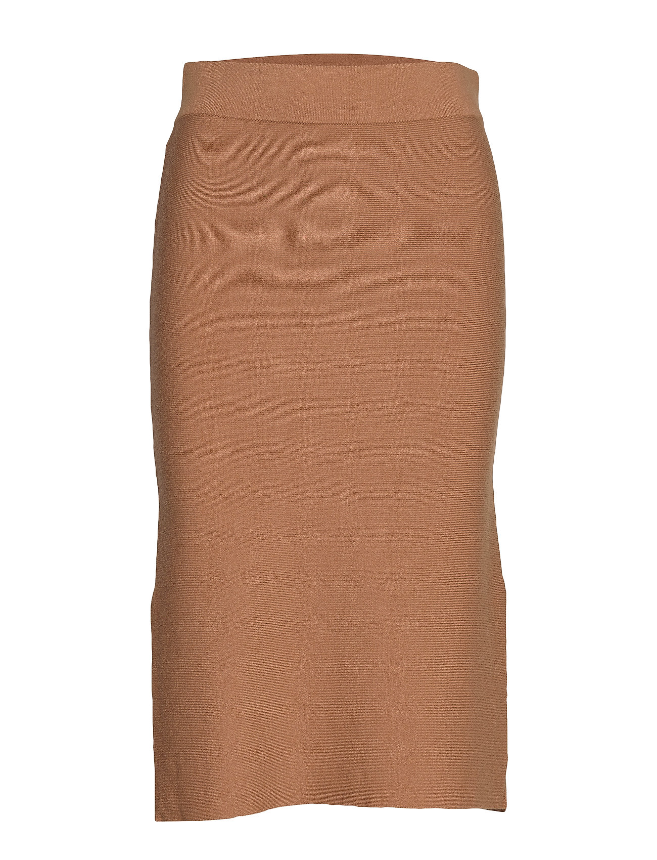 Vero Moda VMNANCY HW PENCIL SLIT SKIRT - TOBACCO BROWN