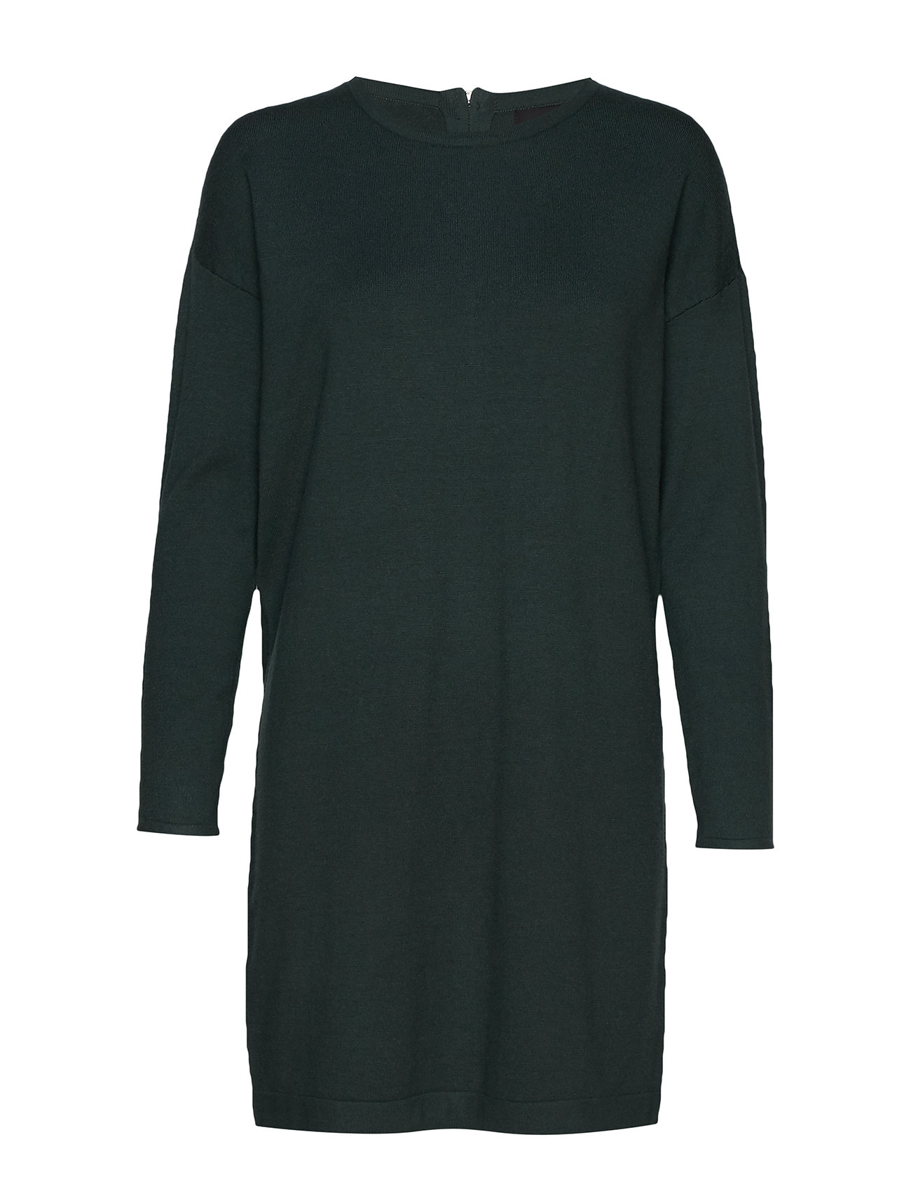 Vero Moda VMHAPPY BASIC LS ZIPPER DRESS COLOR - PONDEROSA PINE