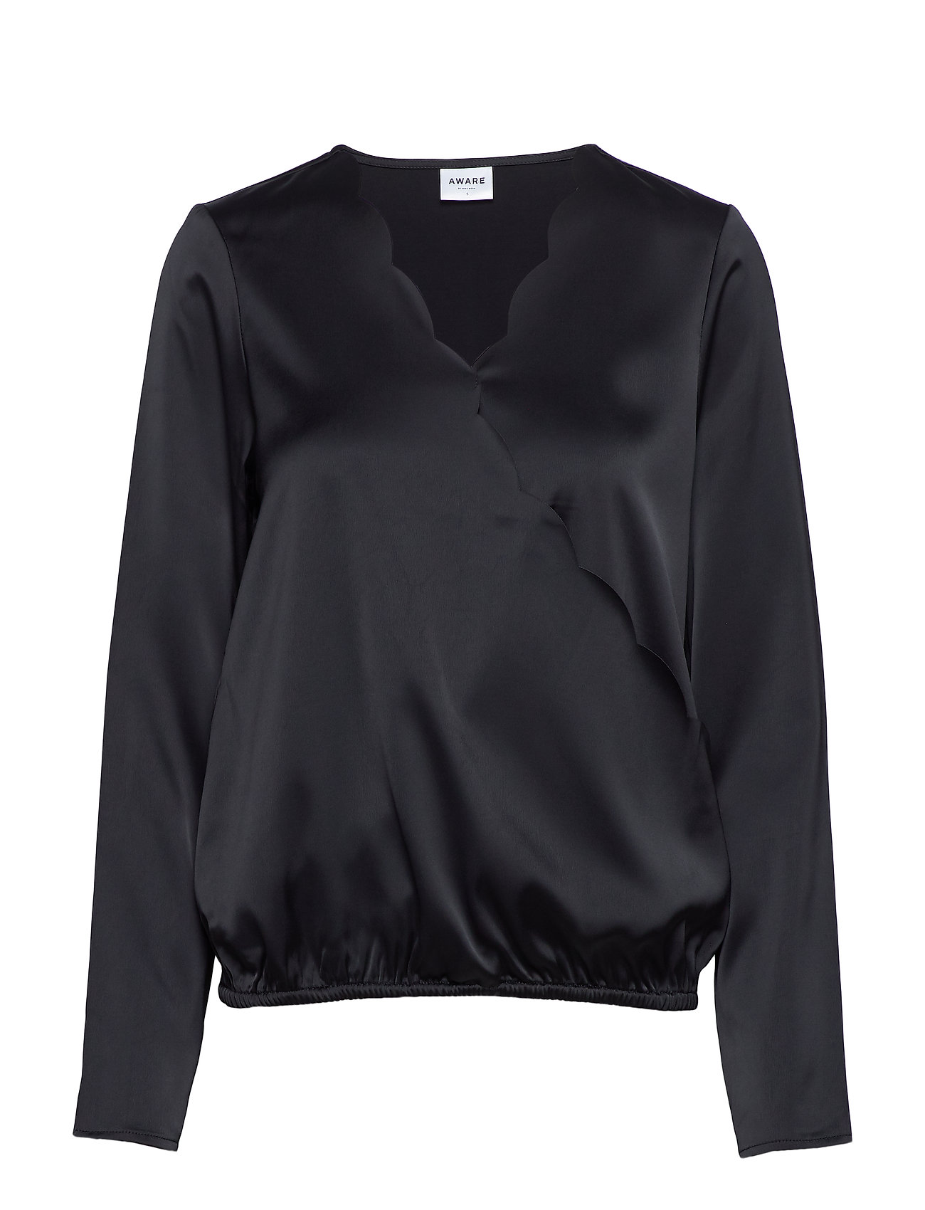 Vero Moda VMIMPORTANT LS WRAP BLOUSE VMA - BLACK