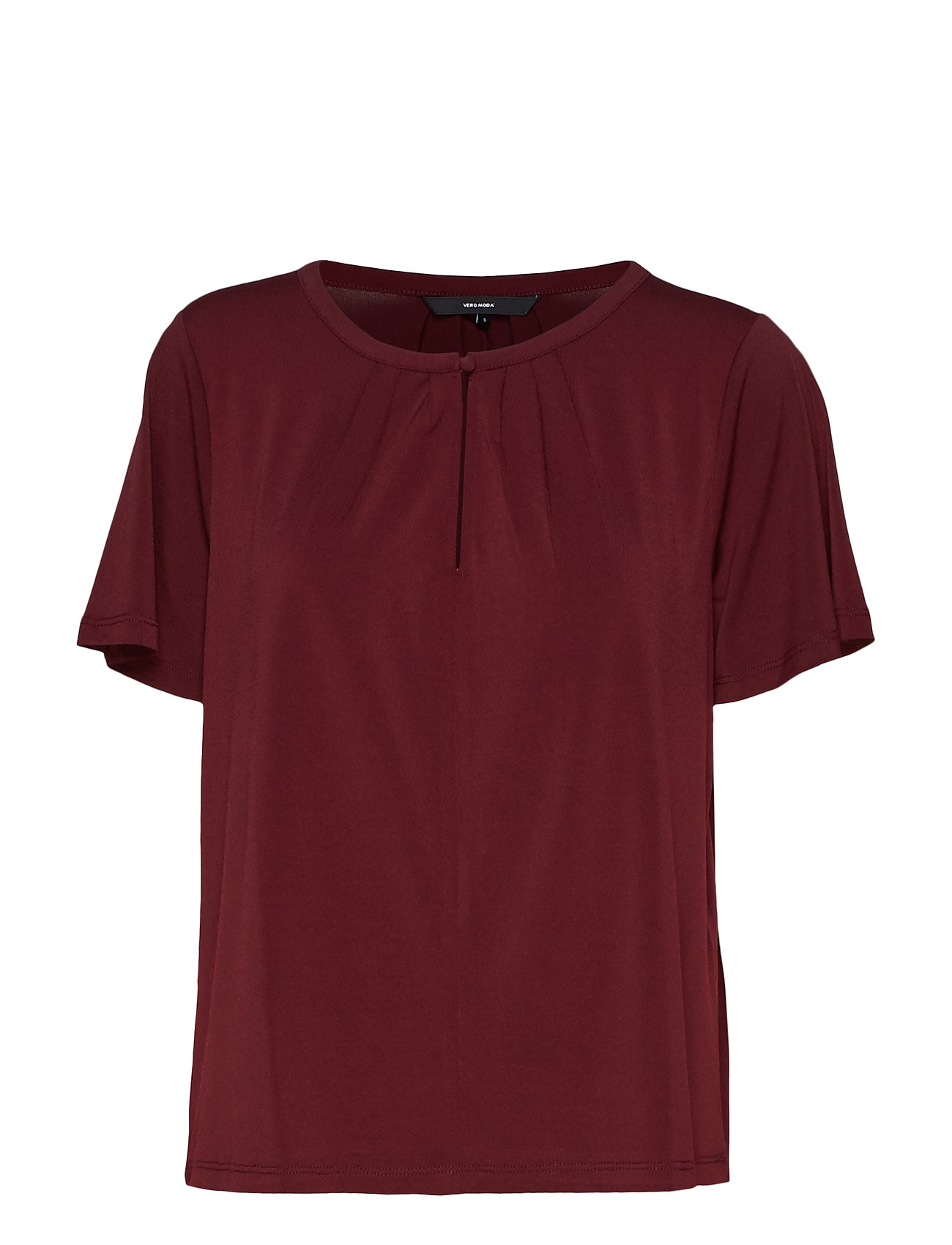 Vero Moda VMMILLA SS BUTTON TOP - PORT ROYALE