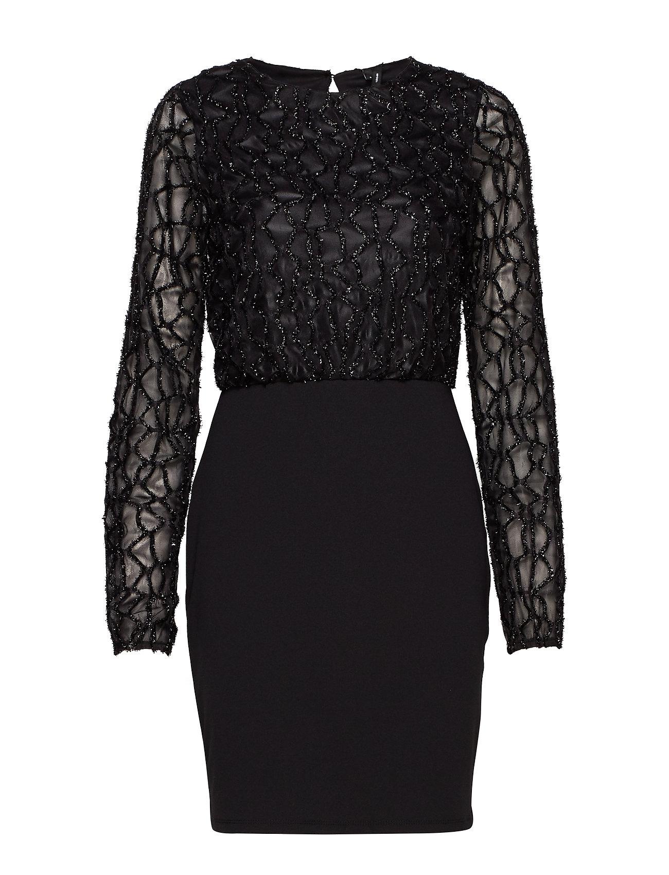 Vero Moda VMDORIS LS SHORT DRESS JRS - BLACK
