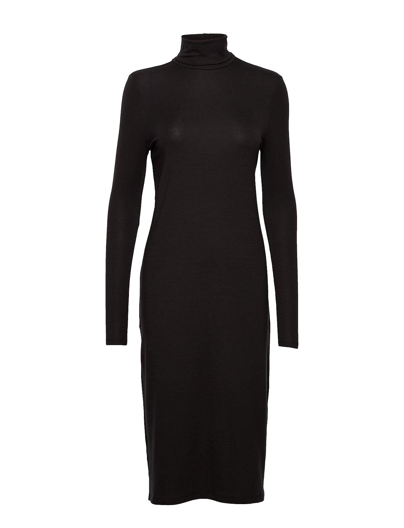 Vero Moda VMGAVA LS ROLL NECK DRESS VMA - BLACK