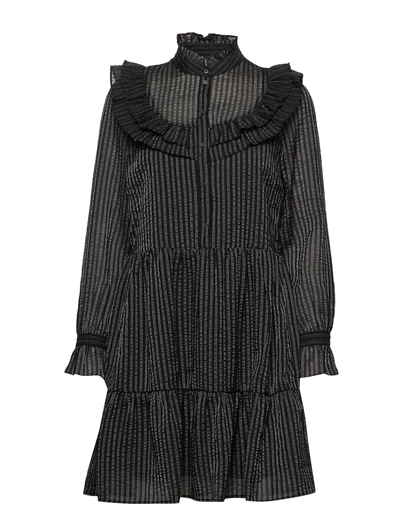 Vero Moda VMJULIA L/S SHORT DRESS SB2 - BLACK