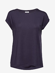 Vero Moda - VMAVA PLAIN SS TOP GA - t-shirts - night sky - 0