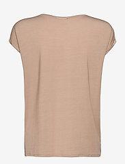 Vero Moda - VMAVA PLAIN SS TOP GA - t-shirts - nomad - 1
