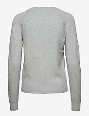 Vero Moda - VMDOFFY LS O-NECK BLOUSE GA - tröjor - light grey melange - 1