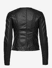 Vero Moda - VMRIAFAVO SHORT COATED JACKET - skinnjackor - black - 2