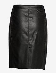 Vero Moda - VMBUTTERSIA HW COATED SKIRT - korta kjolar - black - 1