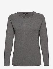 Vero Moda - VMNELLIE GLORY LS LONG BLOUSE - tröjor - medium grey melange - 0