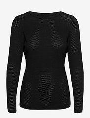 Vero Moda - VMMINNIECARE LS O-NECK BLOUSE GA - tröjor - black - 0