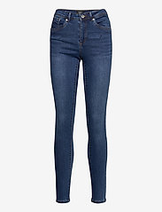 Vero Moda - VMTANYA MR S PIPING JEANS VI369 - slim jeans - dark blue denim - 0