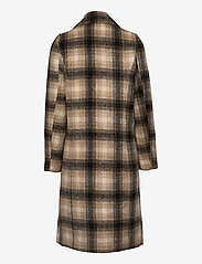 Vero Moda - VMHAILEY CHECK LONG WOOL JACKET GA - ullkappor - tobacco brown - 1