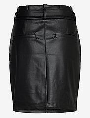 Vero Moda - VMEVA HR PAPERBAG SHORT COATED SKT - korta kjolar - black - 1