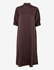 Vero Moda - VMMARLIN 2/4 CALF DRESS VMA - vardagsklänningar - chocolate plum - 0
